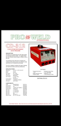 CD-312 Stud Welder Beaumont, T4X 1J6