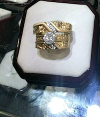 Negotiable wedding 3pc 10k gold all real diamonds Queens, 11412