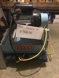 black and gray Targer commercial machine New York, 10011