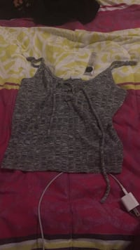 women's gray and black spaghetti strap top Brampton, L6V 3T2