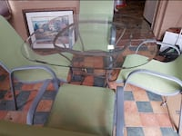 Glass table and chairs Welland