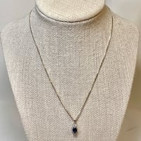 Sterling Silver & Sapphire Pendant with Sterling  Box Chain Ashburn, 20147