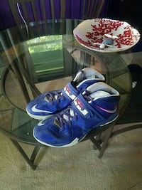 pair of blue-and-white Nike basketball shoes Harpers Ferry, 25425