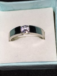 925 silver plated stamped  Austria Crystal wedding Ring jewelry women /men  size 10 Calgary, T3E 6L9
