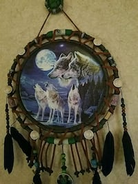 brown and green wooden wall decor Walker, 70785