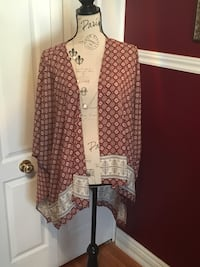 red and white open cardigan Oakville, L6H 1Y5