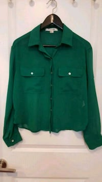 green button-up long sleeve shirt Toronto