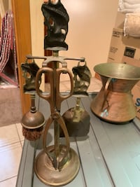 Fireplace tools-brass....