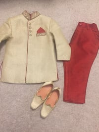 Toddler's pink and white long-sleeved dress Whitby, L1P