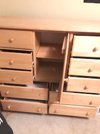 Brown wooden 10-drawer dresser with cabinet  Arlington, 22205