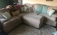 gray fabric sectional sofa with throw pillows Los Angeles