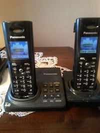 two black Panasonic wireless home phones Toronto, M9L 2C5