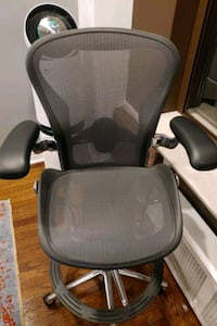 Used Herman Miller Bar Height Aeron Chair For Sale In