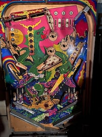 Pinball boards. Use as decoration in mancave or gameroom.