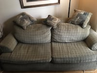 Olive fabric full size sofa. Pillows included Westminster, 80031