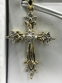 silver-colored cross pendant Gretna, 70056