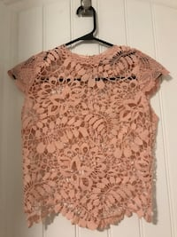 Pink lace top brand new from CityLux