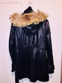Top gun woman's 3/4 leather bomber coat in large