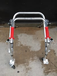 Gray and red steel frame 2258 mi