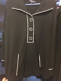 black and gray zip-up jacket null