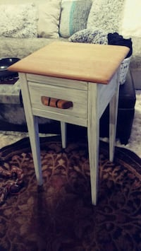 brown wooden single-drawer end table Maryville