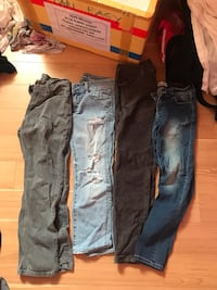 two blue and black denim jeans Regina, S4S 3S7