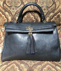 ALDO Faux Leather Black Handbag With Tassels*Classy