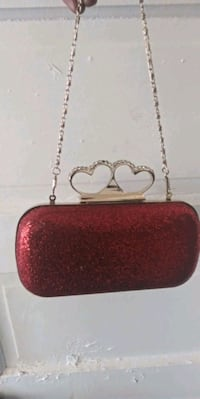 Red and gold clutch Baltimore, 21216