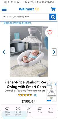 Fisher price starlight revolver swing chair