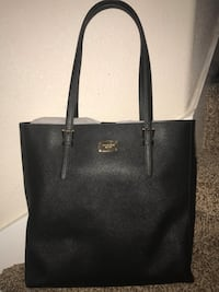 Black michael kors leather tote bag Meridian, 83642