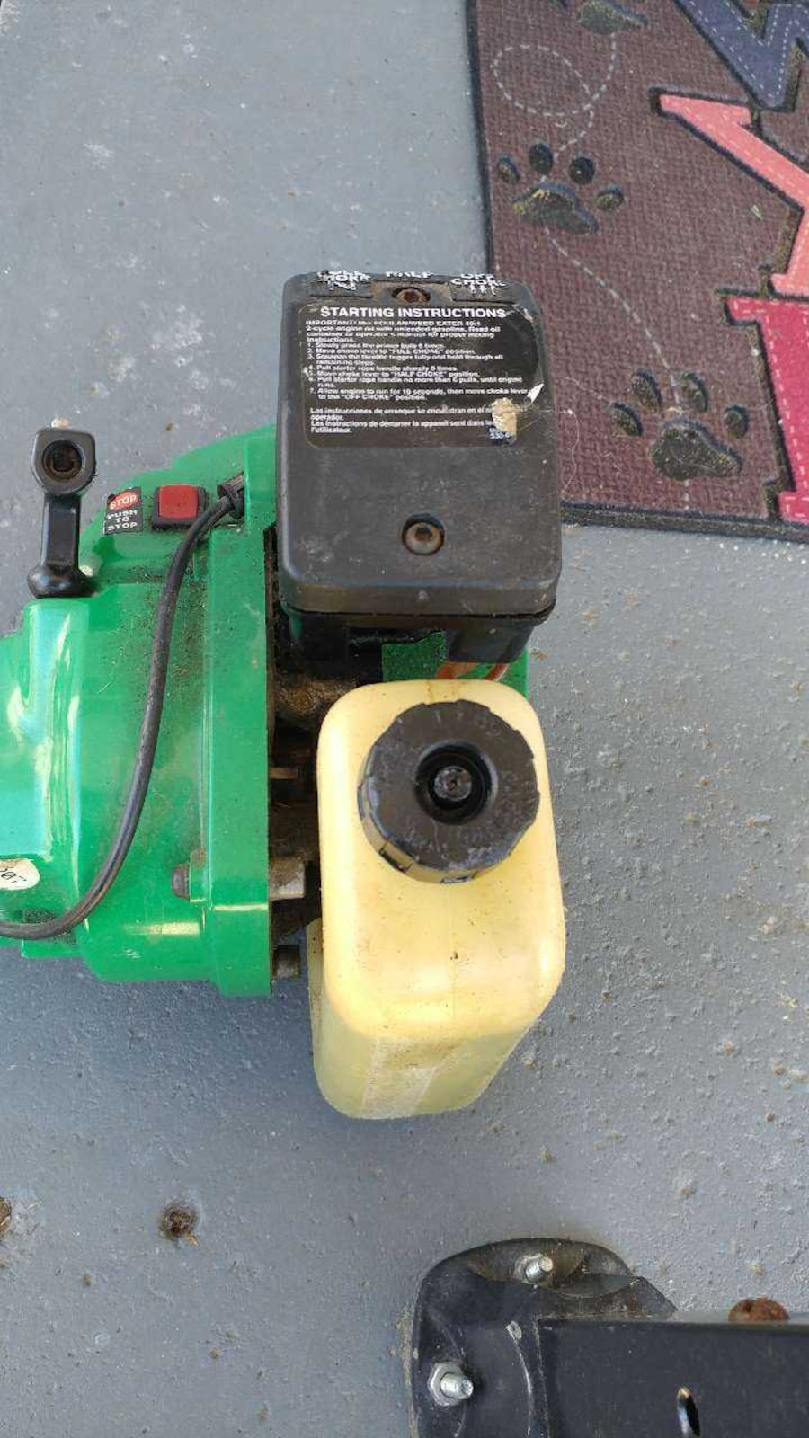 weed eater xt 112 manual