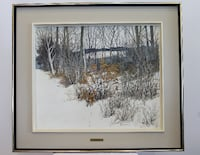 brown wooden framed painting of trees and snow Vaudreuil-Dorion