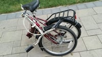 red and white motorized bicycle Mississauga, L5R 1W1