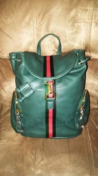 green and brown leather crossbody bag 362 mi