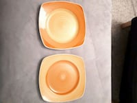 A pair of 4 Patio style pottery ceramic plates  Edmonton, T5N 1N5
