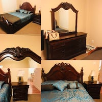 Queen Bedroom set with mattress and spring box  null