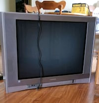 "36"" Tube TV, Stand and Remote"