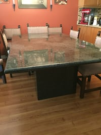 Rectangular black and green Granite table with or without chairs.   Mississauga, L4Z 0B5