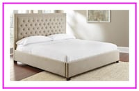 King or Queen Upholstered Headboard Hickory