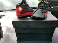 pair of gray-and-red basketball shoes Sterling Heights, 48310