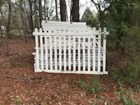 Vinyl fence panels with posts (388 linear feet) RAEFORD