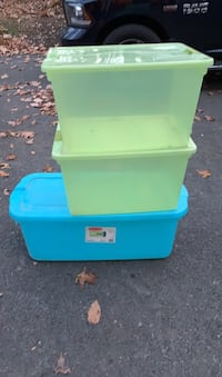3 storage totes, take all New Providence, 17560