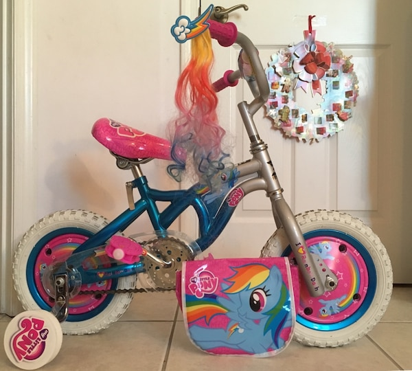 d58159dbc51 Used My little pony Rainbow Dash bike bicycle 3D Dynacraft in like new  condition for sale in Vero Beach - letgo