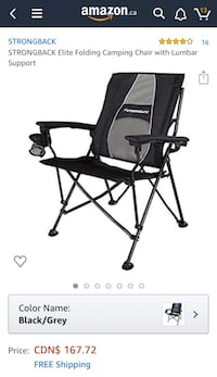 Strongback Camping Chair- NEW