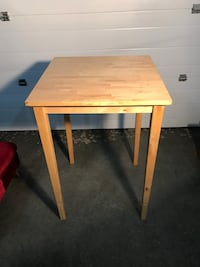 Solid wood prep table
