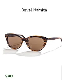 "Bevel Namita ""Matte Whiskey Tortoise with Brown Polarized Lenses"