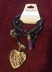 New sets of 3 bracelets with charms, gold plated  Stockton, 95207