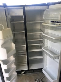 white side-by-side refrigerator