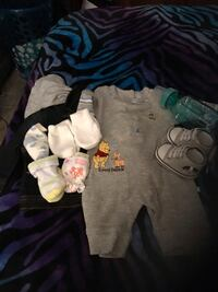 Cute baby boy outfit and socks and cute shoes with baby bottle  San Bernardino, 92407