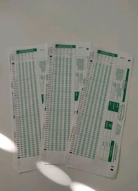 (3) Unused Scantron 882-E For Free